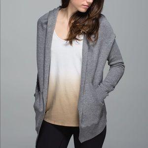 Lululemon Yogi Cabin Wrap Cardigan Sweater Grey